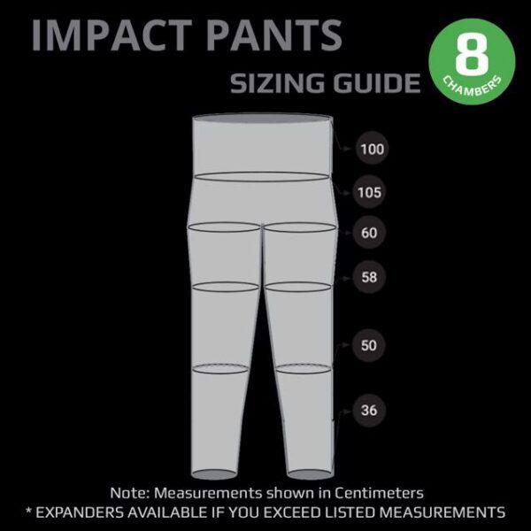 Impact Pants Size Chart2